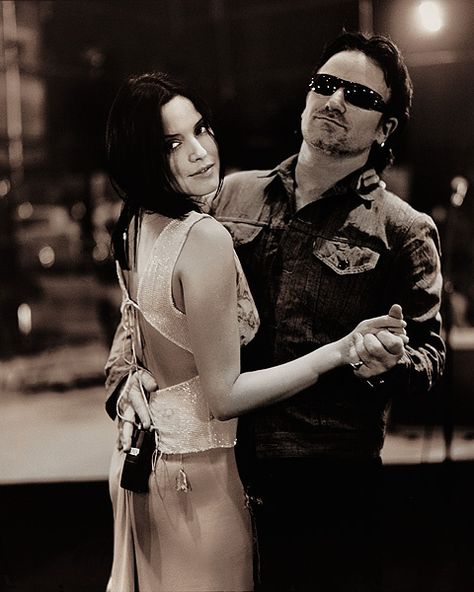 Andrea Corr and Bono