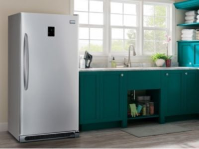 Freestanding Upright Freezer In A Small Kitchen Area Room Air