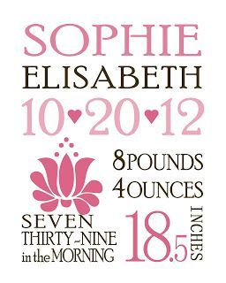 13 Awesome Free Nursery Art Prints Birth Announcement Template