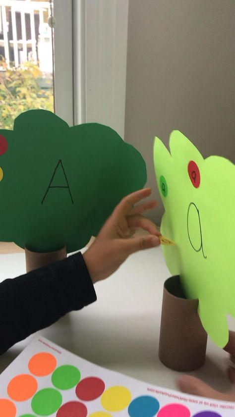 Letter A apple trees