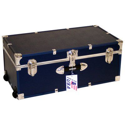 Locking Trunk With Wheels Navy   6113 19 Part 12