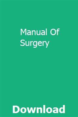 Manual Of Surgery Manual Coding User Manual