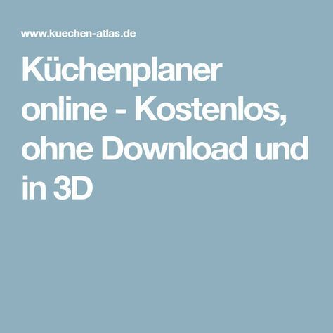 Kuchenplaner Online Kostenlos Ohne Download Und In 3d Kuchenplanung Planer Kuche