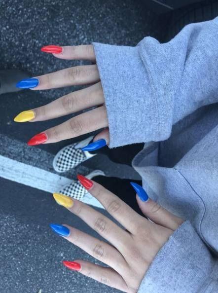 Trendy Nails Yellow Matte Blue Ideas Yellow Nail Art Acrylic Nails Stiletto Yellow Nails