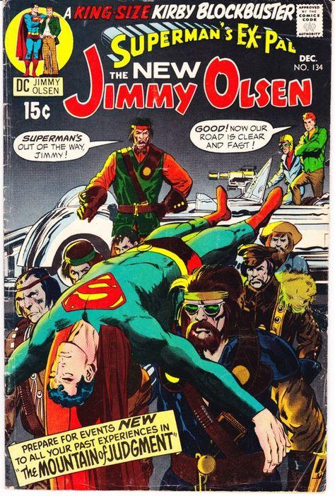 Jimmy Olsen 134 Key Comic 1st Darkseid Books 1970 Dc Vgfn 5 0 Jimmy Olsen Valuable Comic Books Silver Age Comic Books