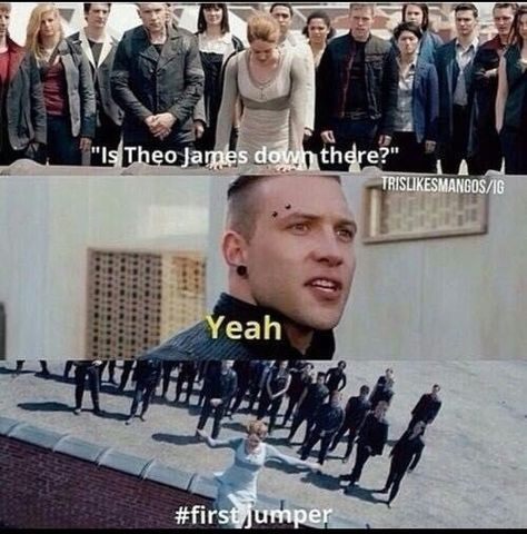 Divergent and Theo James - Molly, Tris and Eric Divergent Memes, Divergent Hunger Games, Divergent Fandom, Divergent Trilogy, Divergent Insurgent Allegiant, Insurgent Quotes, Peter Divergent, Divergent Fanfiction, Theo James