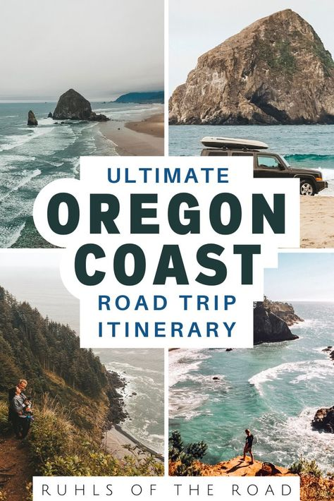 Official Oregon Coast Road Trip Itinerary - Ruhls of the Road The Oregon Coast is the perfect place for the trip of a lifetime. Let us show you everything you need to know about an Oregon coast road trip itinerary! Oregon Coast Roadtrip, Southern Oregon Coast, Oregon Road Trip, Oregon Vacation, West Coast Road Trip, Oregon Travel, Travel Usa, Road Trips, Oregon Hiking