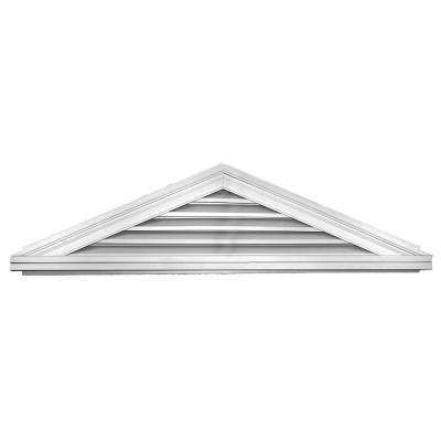 5 12 Triangle Gable Vent 001 White Gable Vents Attic Ventilation Vented