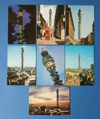 Set Of 7 London Postcards Views Of The Gpo Post Office Tower Bq4 London Postcard Postcard Office Tower
