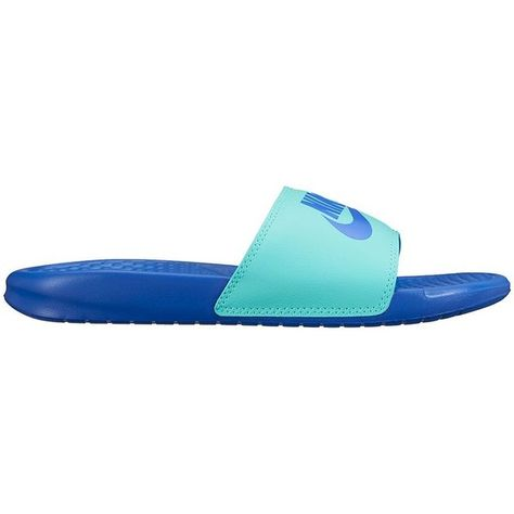 3e0d0c22f844 Nike Benassi JDI Mismatch Women s Slide Sandals ( 25) ❤ liked on Polyvore  featuring shoes