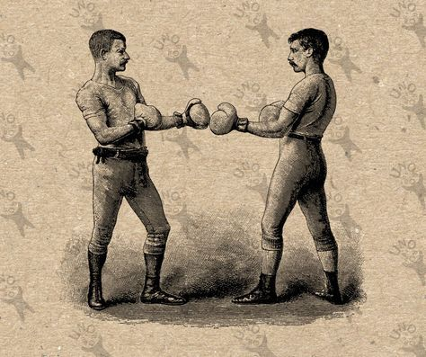 Vintage Image Box Fight Boxing Boxers Drawing Instant Download Etsy Vintage Images Boxing Posters Prints