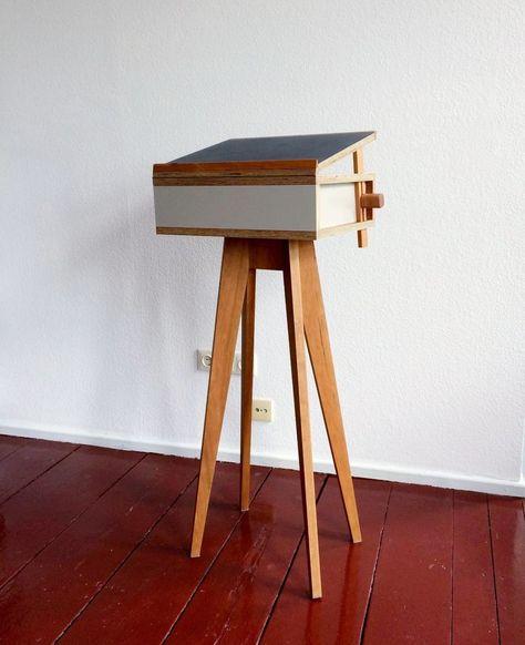 Stehpult, standing desk, lectern  beautiful Buchpult - design mobel leuchten kevin michael burns