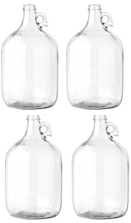 Glass Jug 1 Gallon Carboy Fermenter Pack Of 4 742436702249 Ebay Glass Jug Glass Water Bottle Wine Making Bottles