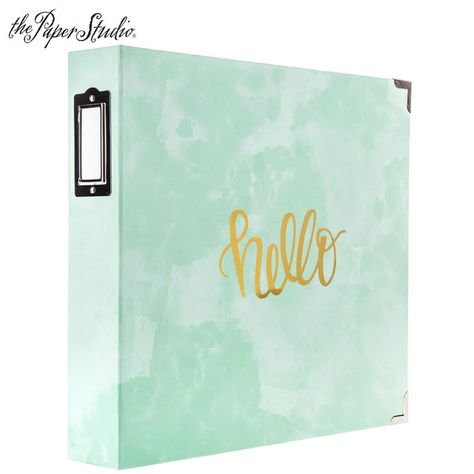 Mint Watercolor Foil 3 Ring Scrapbook Album Scrapbook Paper