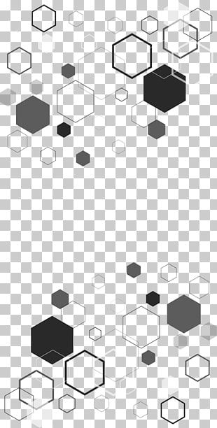 Benzene Hexagon Pattern Decorative Pattern Of Benzene Ring Black And Gray Octagon Illustrations Png Clipart Hexagon Pattern Free Clip Art Hexagon