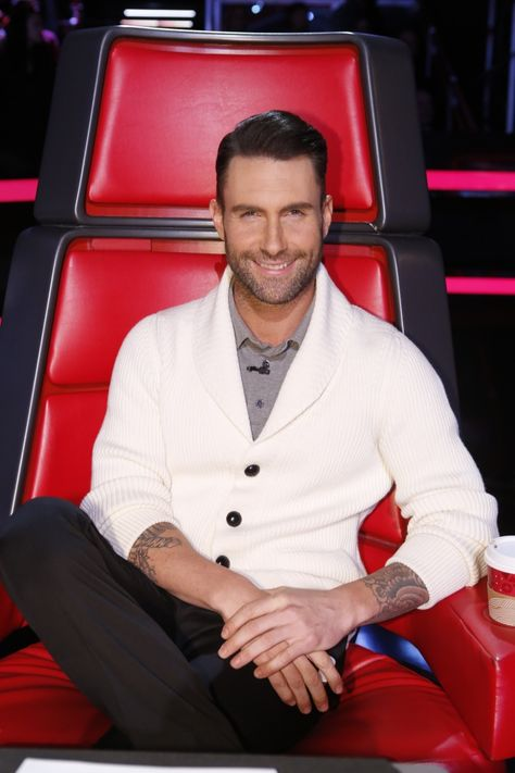 """People's sexiest man aliveis in the building. Adam Levine looks good on """"The Voice"""" on Dec. 9 in Los Angeles"""