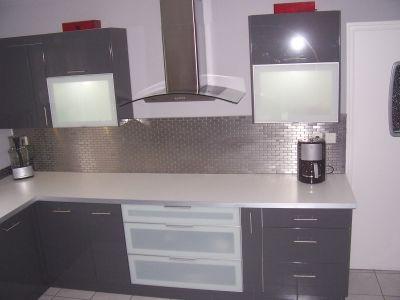 Une cuisine contemporaine - Meuble laqué gris - A quoi ressemble ...