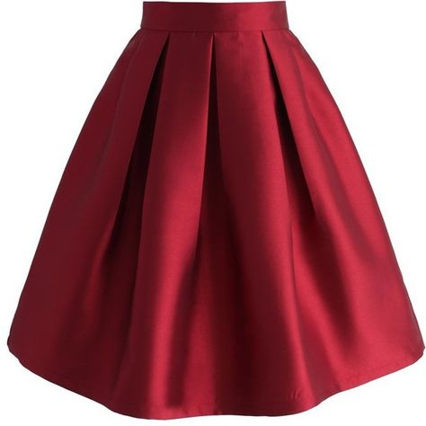 Chicwish All Time Essential Pleated Skirt in Wine ($42) ❤ liked on Polyvore featuring skirts, red, red pleated skirt, cocktail skirt, holiday skirts, pleated skirt and evening skirts