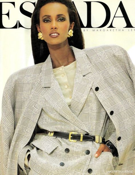 Iman for Escada, 1988 - those shoulders, though!