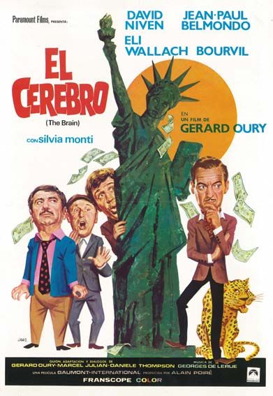 El Cerebro 1969 Le Cerveau De Gérard Oury Tt0064146 Old Movie Posters Old Movies Movie Posters