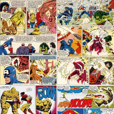 As histórias em quadrinhos Marvel em imagens aleatórias para revestir a parede. Não precisa passar cola e ainda lavável. Decore já!