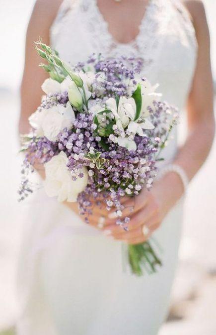 Wedding Bouquets Purple Lavender Babies Breath 28 Ideas Wedding Purple Wedding Bouquets Small Wedding Bouquets Wedding Flower Guide