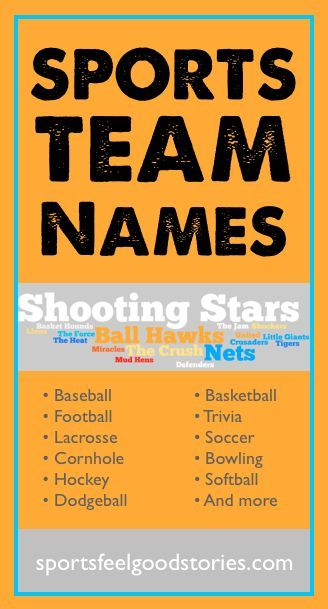 Sports Team Names List Best Sport Nicknames Funny Cornhole Team Names Team Names Softball Team Names