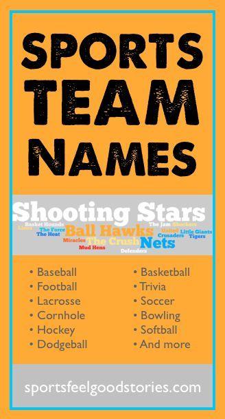Funny Team Names For Hockey Pools : funny, names, hockey, pools, Sports, Names, Lists, Baseball,, Basketball,, Football,, Hockey, Names,, Softball