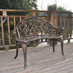 Olga Metal Park Bench In 2020 Outdoor Bench Metal Garden Benches Wooden Garden Benches