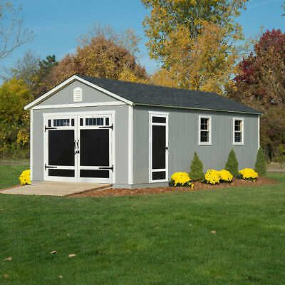 Usa Quality 24 X 12 Storage Shed Kit Pre Cut Garage Office 15 Year Warranty Ebay Building A Shed Shed Plans Shed Storage