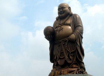 Belle Statue Du Bouddha Riant Bouddha Image Bouddha Bouddha Rieur