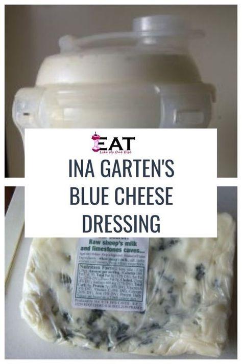 Ina Garten's Blue Cheese Salad Dressing Recipe. Learn how to make a simple blue … Ina Garten's Blue Cheese Salad Cheese Dip Recipes, Sauce Recipes, Cooking Recipes, Drink Recipes, Blue Cheese Salad, Blue Cheese Dressing, Blue Cheese Vinaigrette, Barefoot Contessa, Recipes