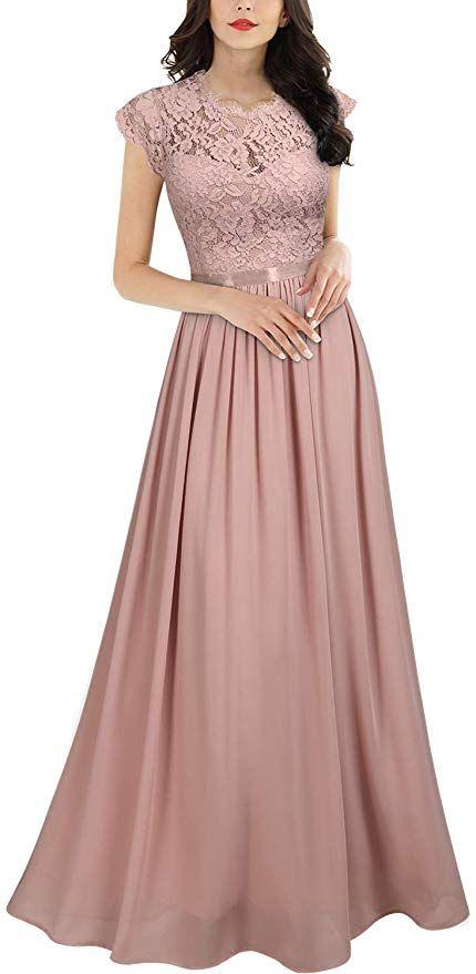 Damen Winter Hochzeit Chiffon Faltenrock Maxi Kleid 38 99 Lassige Brautkleider Cocktailkleid Langes Abendkleid