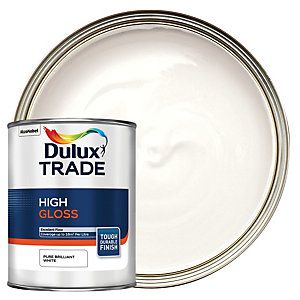 Dulux Trade High Gloss Paint Pure Brilliant White 1l High Gloss Paint Gloss Paint Dulux Trade
