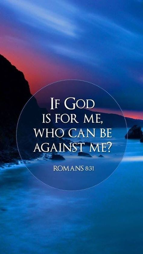 """Sandi on Twitter: """"""""What shall we then say to these things? If God be for us, who can be against us?"""" Romans 8:31 💙❤… """""""