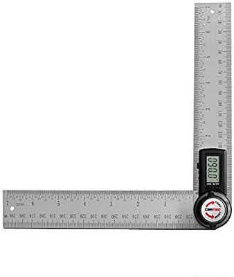 Gemred 82305 Digital Angle Finder 7 Inch Protractor 200mm Stainless Steel Angle Finder Ruler Amazon Com Stainless Steel Angle Protractor Angle Finders