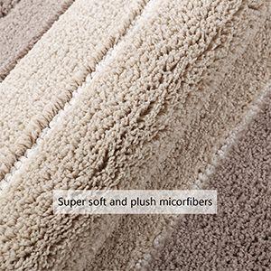Pauwer Non Slip Bathroom Rug Mat Super Soft Water Absorbent Microfiber Bath Mat For Bathroom Machine Washable Bath Rug Floor Carpet 20 X32 Strip Beige In 2020 Bathroom Rugs Washable Bath Rugs