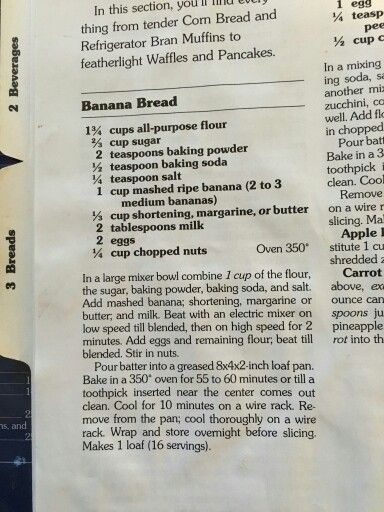Better Homes And Gardens Banana Bread Recipe It S