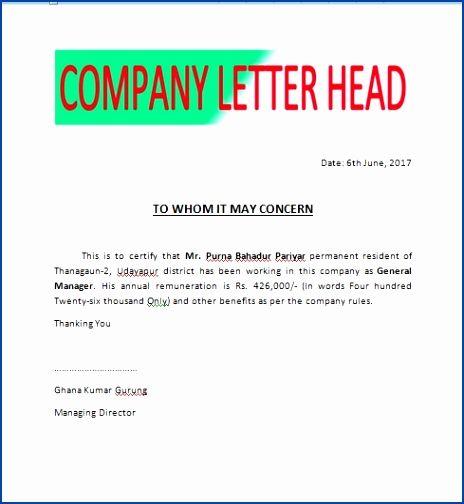 Salary Certificate for Loan Pevrn Lovely Salary Certificate