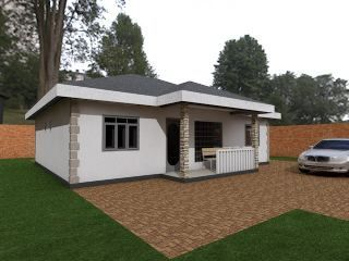 3 Bedroom Bungalow House Plan Muthurwa Com Architectural House Plans Bungalow House Design Bungalow House Plans