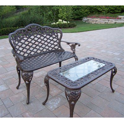 Attractive Oakland Living 3006 3007 2 AB Tea Rose 2 Piece Outdoor Loveseat