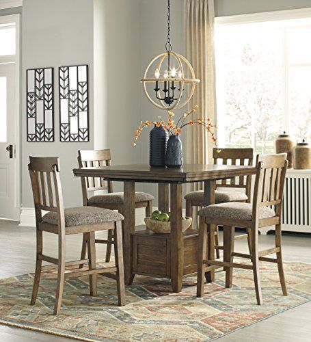 Furnituremaxx Flaybarm Casual Brown Color Dining Room Set