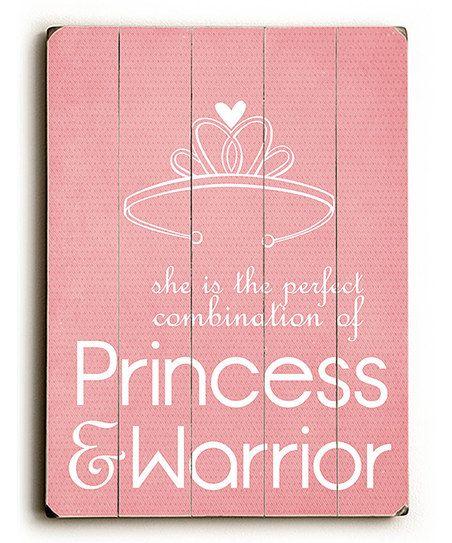 Princess amp warrior wall art in a little girl s room i wanna raise