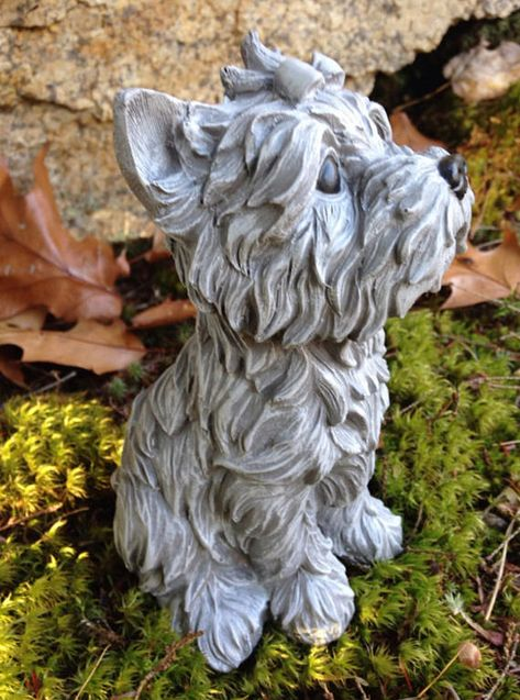 Yorkshire Terrier Garden Statue