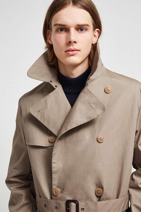 Wolle aus Lammlederdetail reiner mit Kaschmir Trenchcoat und tCxBhQrds