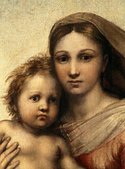 Madonna Della Sistina.  Raphael.