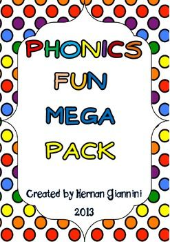 Phonic Fun Pack for ELA Centers with Key Included