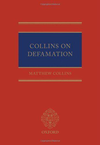 Download Pdf Collins On Defamation Free Epub Mobi Ebooks Books To Read Ebooks Defamation