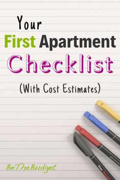 The Ultimate First Apartment Checklist (With Cost Estimates)