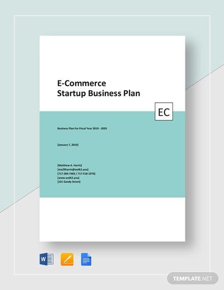 E Commerce Start Up Business Plan Template Free Pdf Word Google Docs Business Plan Template Business Plan Template Free Startup Business Plan